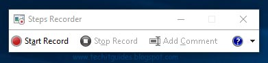 Steps recorder in Windows 10, 8, and 7