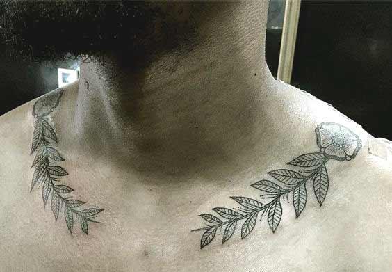 50 Stunning Collar Bone Tattoos For Women And Men