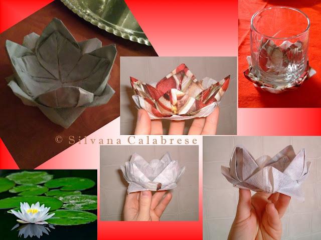 Ninfea origami tovagliolo carta Natale La scorribanda legale - Blog