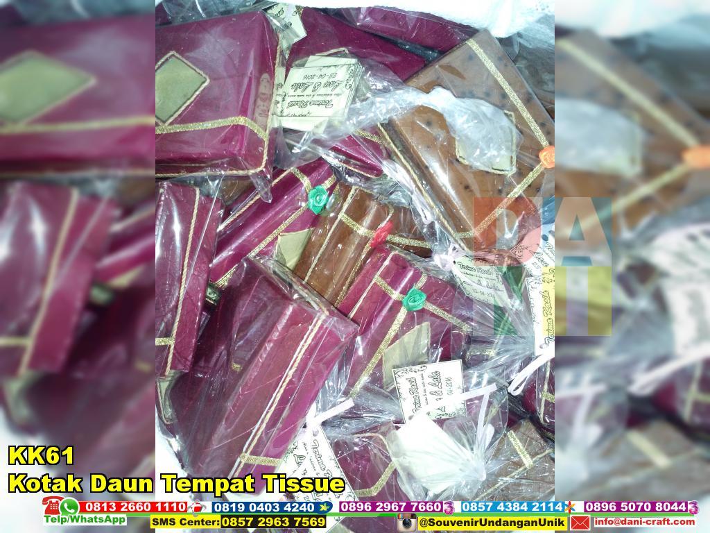 Box Tempat Tissue Kotak Daun KK61