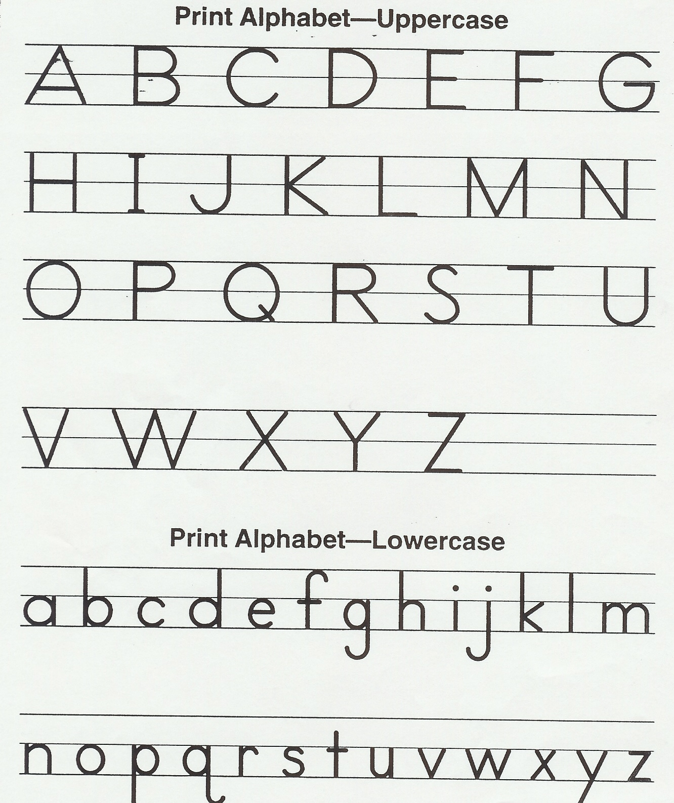 Joint Writing Alphabet
