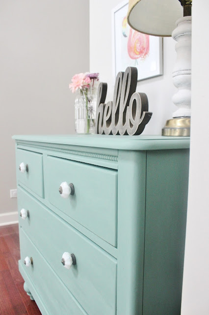 Craigslist Dresser Made Over with Chalk Paint-Inspired Paint