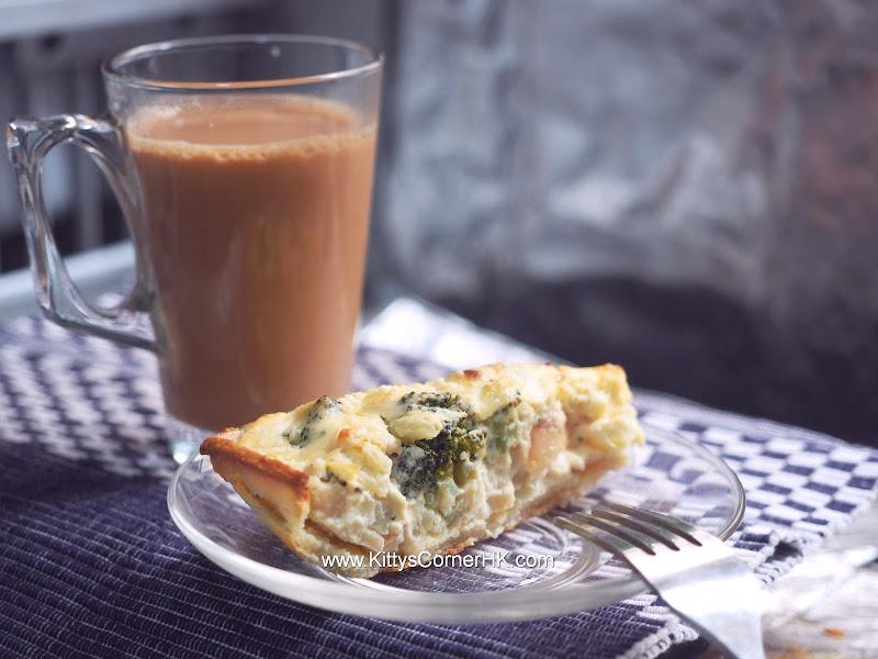 Broccoli and Apple Quiche DIY recipe 西蘭花蘋果鹹批 自家烘焙食譜