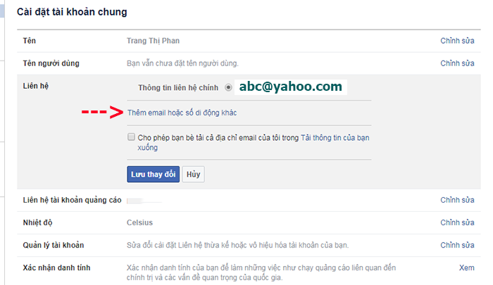 doi dia chi yahoo thanh gmail tren facebook 2