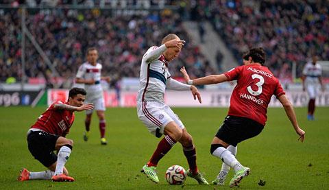 Robben đã trở thành tiền đạo xuất sắc khi chơi cho Bayern