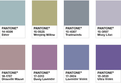 Pantone color palette Purple Haze