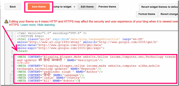 meta-tags-code-add-in-blogger-blog