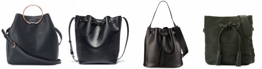 One of these bucket bags is from Brunello Cucinelli for $3,995 and the other three are under $90. Can you guess which one is the designer bag?