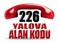 0226 Yalova telefon alan kodu