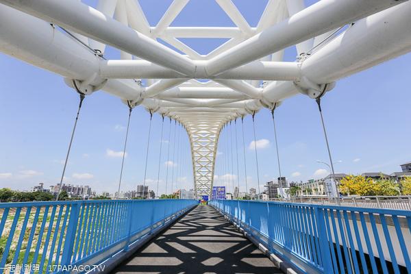 台中北屯|海天橋|旱溪阿勃勒黃金雨大道|特色景觀橋|拍照打卡熱點