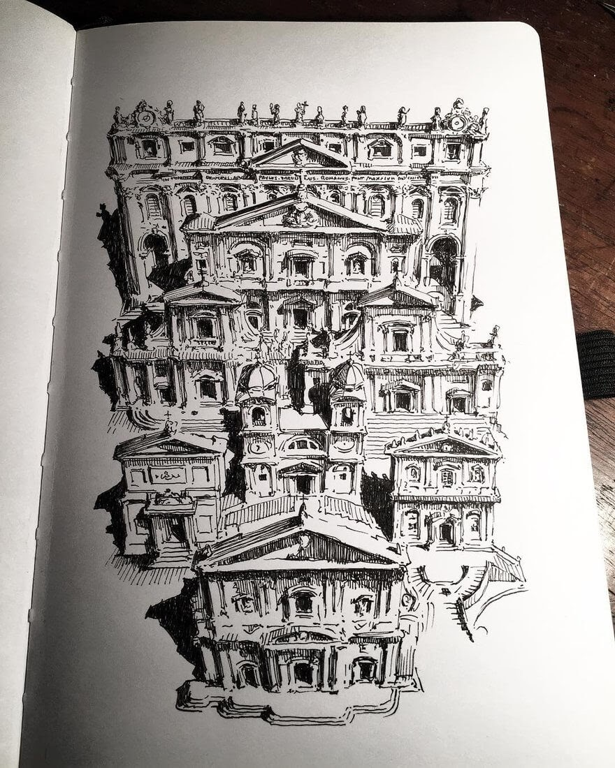 06-Facade-Favourites-Mark-Poulier-Urban-Sketches-Drawn-on-Site-www-designstack-co