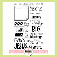 http://www.sweetnsassystamps.com/creative-worship-just-say-jesus-clear-stamp-set/