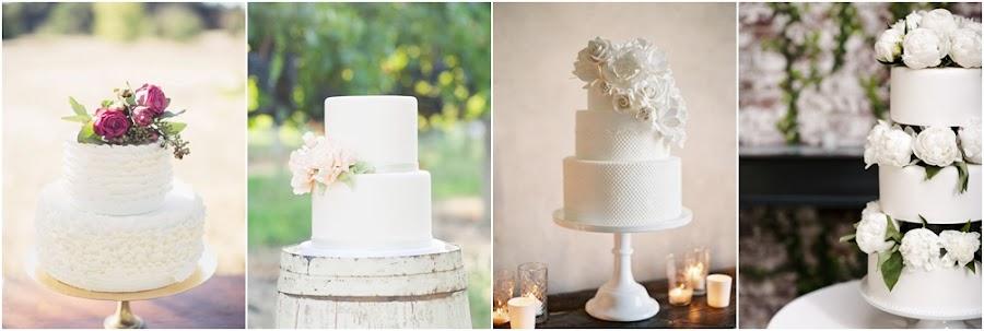 Tarta de fondant blanco para bodas
