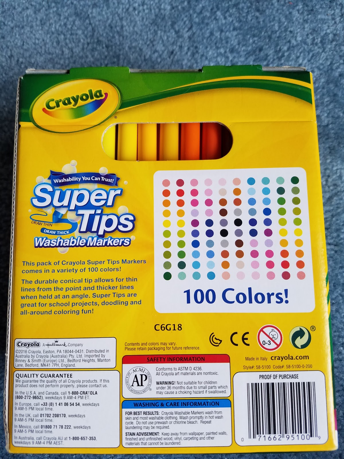 Affordable art supplies crayola super tip 100 pack nattosoup the back of the box promises 100 colors and shows color swatches although we have learned that with inexpensive markers you can never trust the swatches nvjuhfo Image collections