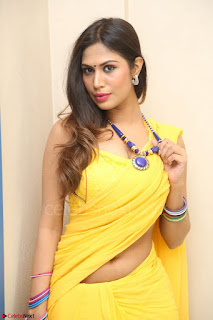 Nishigandha in Yellow backless Strapless Choli and Half Saree Spicy Pics 130.JPG