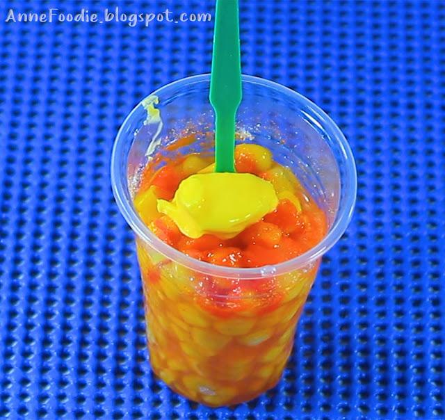 Filipino Street Food - Sweet Corn with margarine and cheese powder.