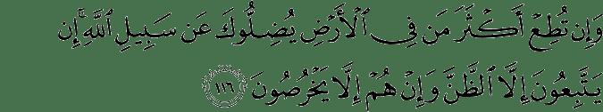 Surat Al-An'am Ayat 116