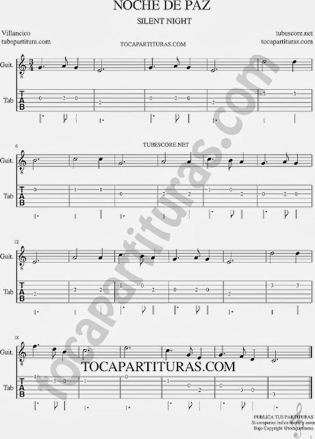 Tablatura y partitura del Punteo de Guitarra (tab) para aprender a tocar la melodía con guitarra Tabs sheet music for guitar