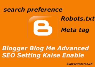 blogger blog me advanced seo setting kaise enable kare