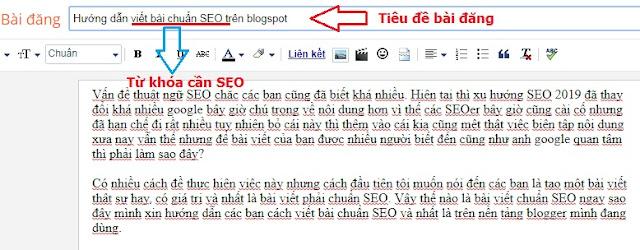 Tiêu đề bài đăng chứa từ khóa chuẩn SEO Blogspot