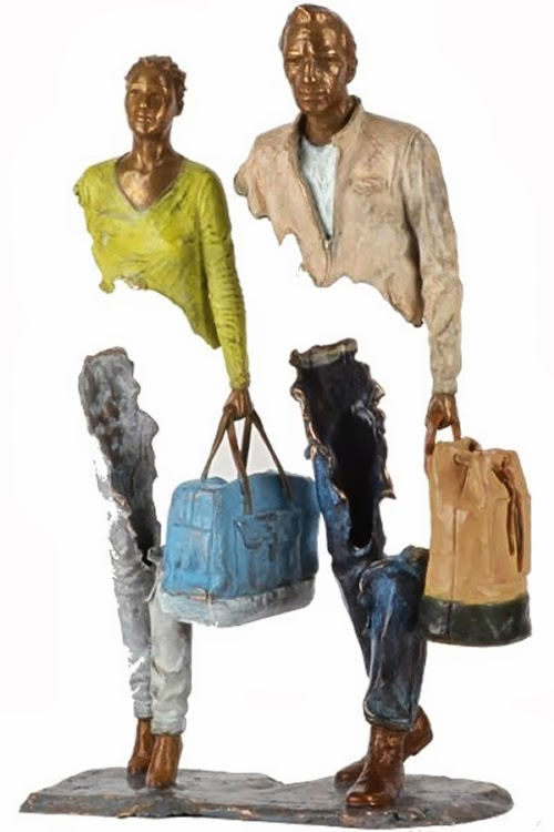 13-French-Artist-Bruno-Catalano-Bronze-Sculptures-Les Voyageurs-The-Travellers-www-designstack-co
