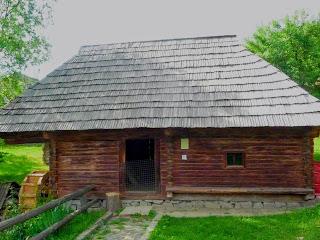 Ужгород. Музей народной архитектуры и быта. Водяная мельница из села Колочава