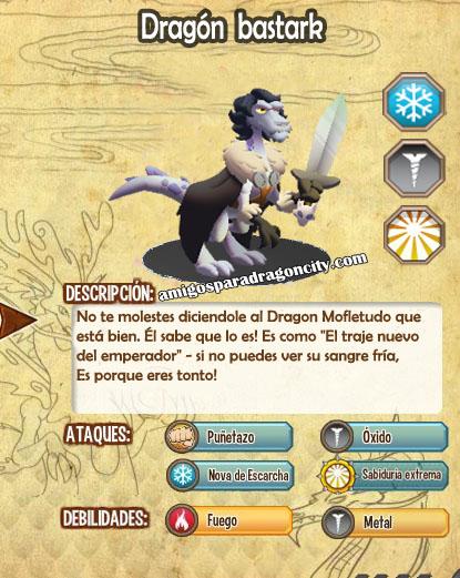 imagen de las caracteristicas del dragon bastark