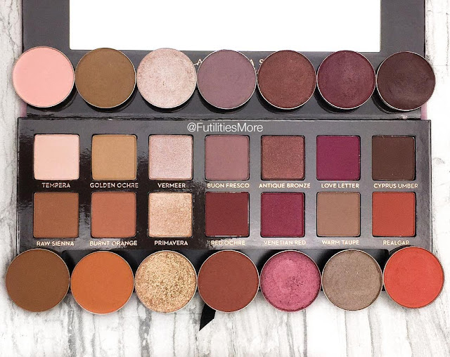 Modern Renaissance Palette Dupes With Makeup Geek Eyeshadows pictures and swatches