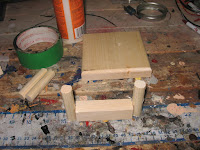 Placing the pillars in the jig