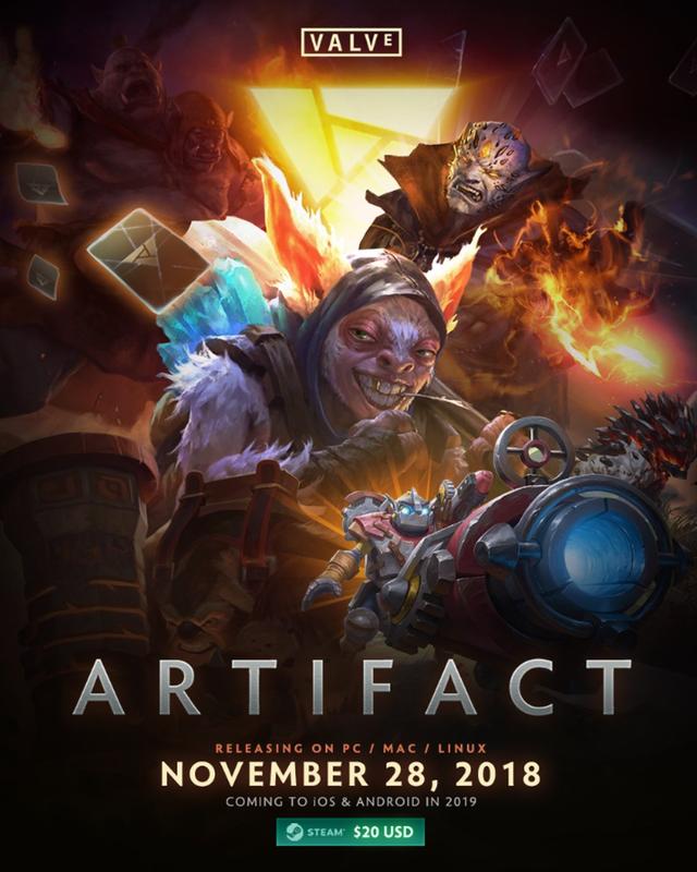 Artifact, el nuevo juego de Steam, llegará el 28 de noviembre