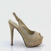 Sandale dama bej Yarinna cu toc inalt