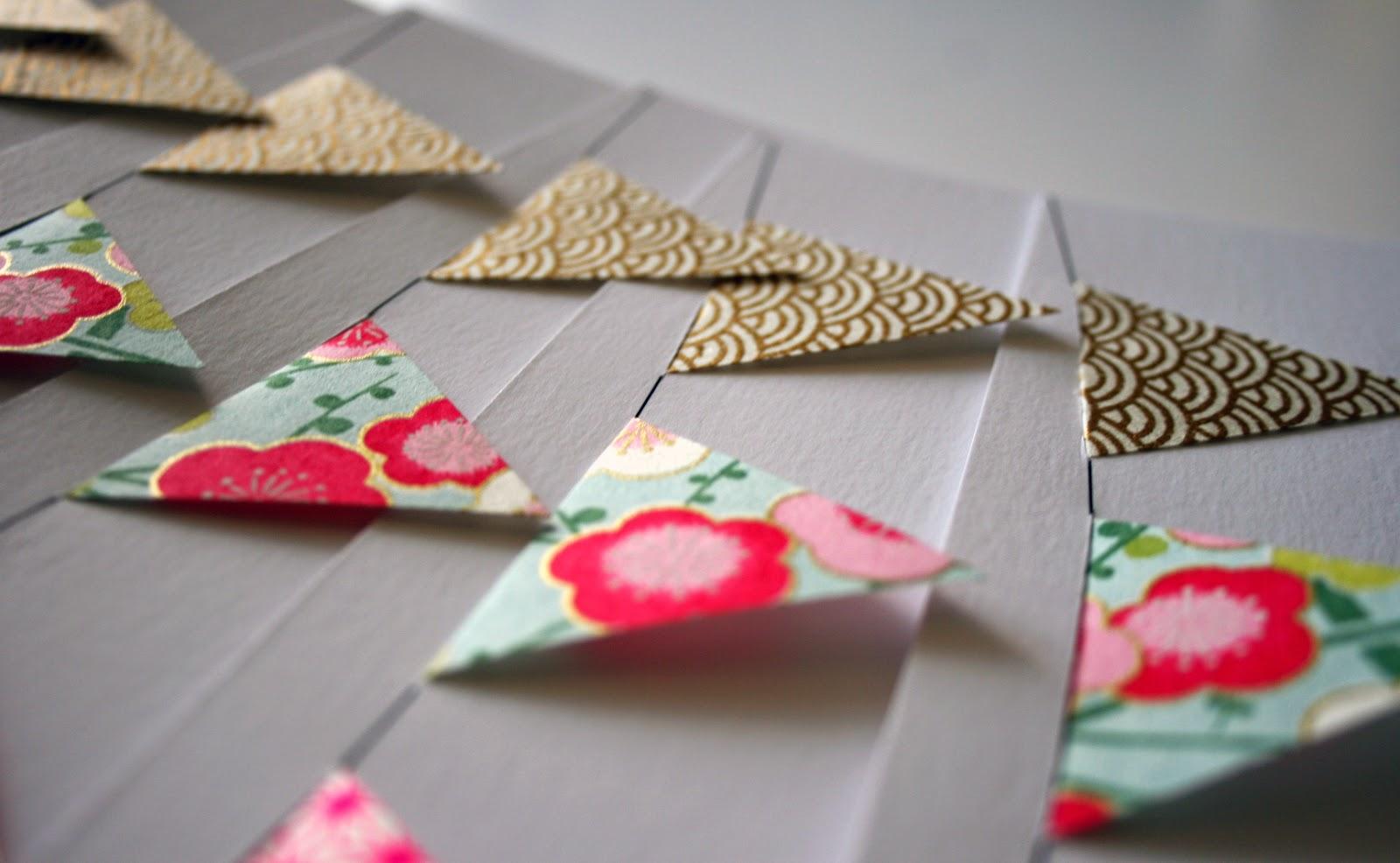 faire-part baptême fanions papier japonais fait main cadeau invité