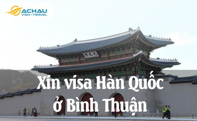 Xin visa Hàn Quốc ở Bình Thuận