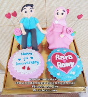 Cupcake Couple Romantis Anniversary - Birthday