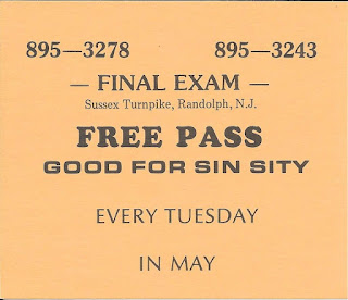 Sin Sity free pass for The Final Exam rock club