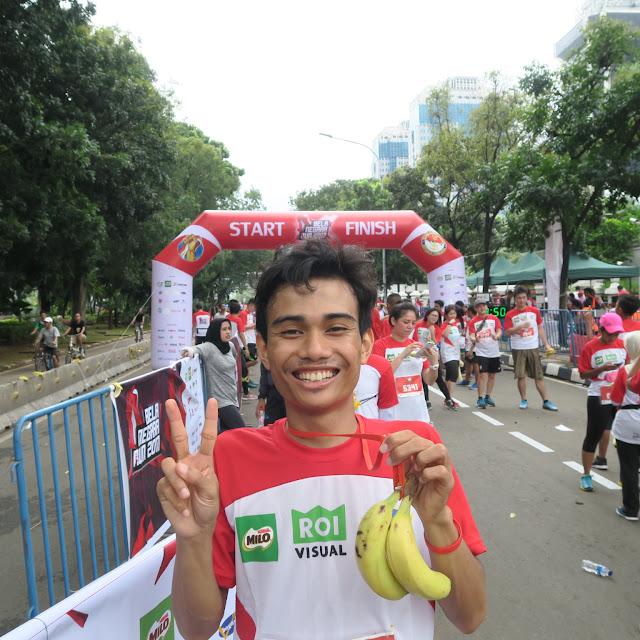 Selfie bersama pisang di Bela Negara Run 2017