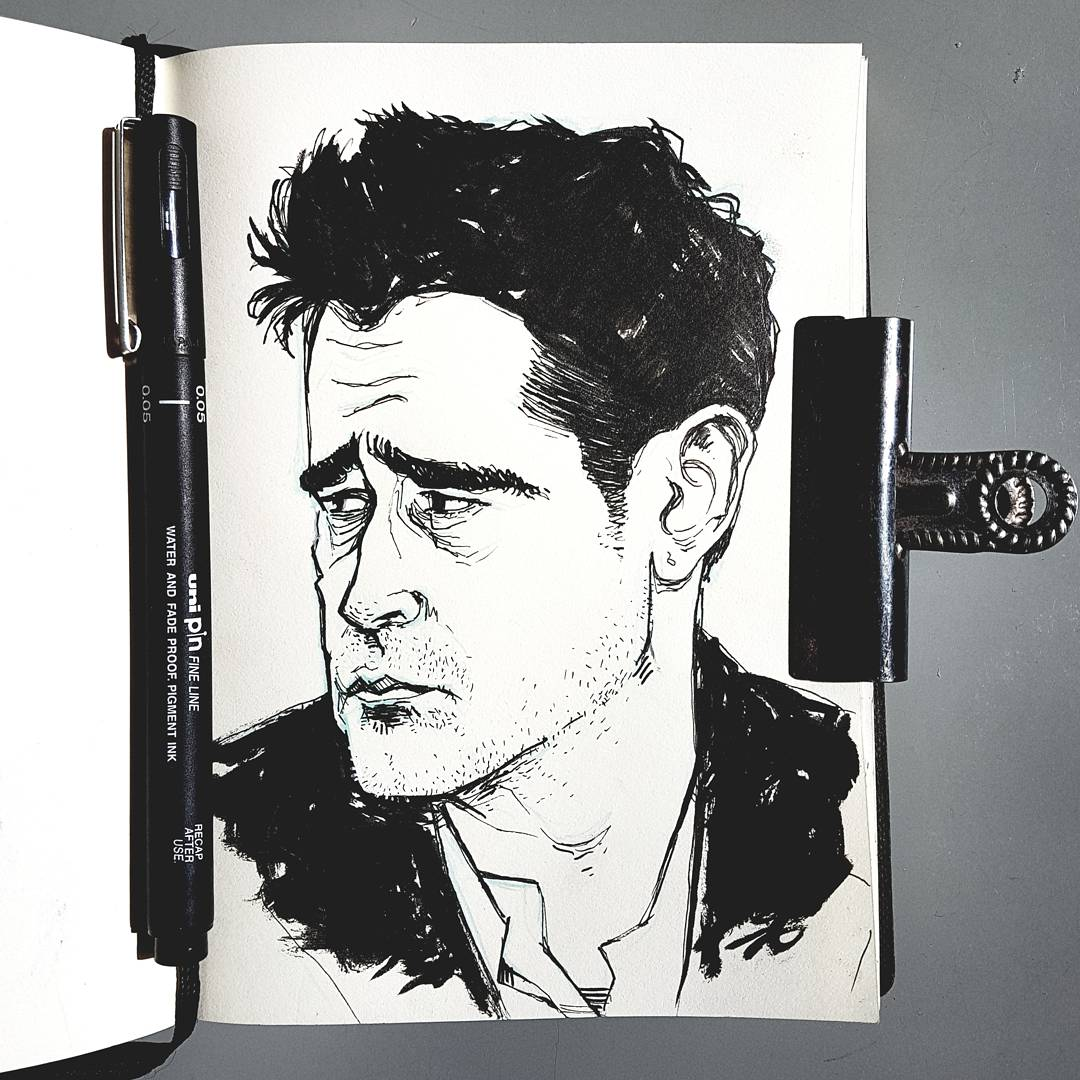 Colin Farrell illustration