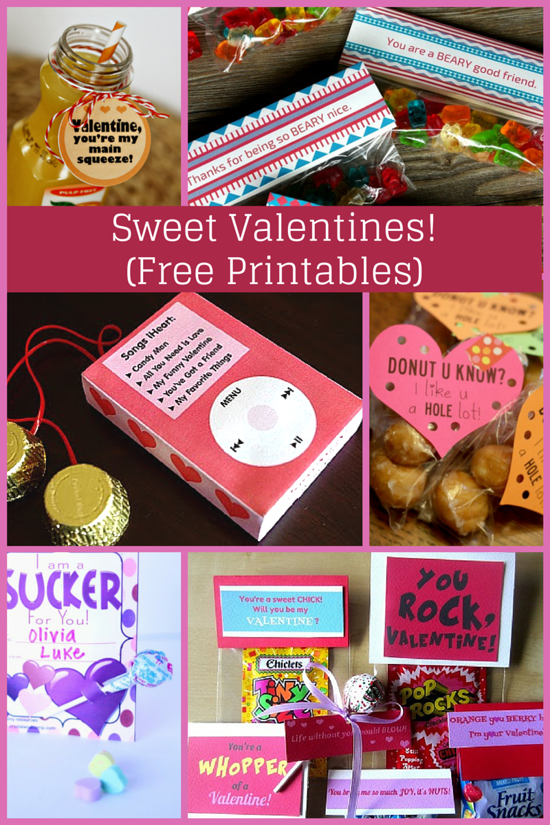 Sweet Valentines for kids with free printables!