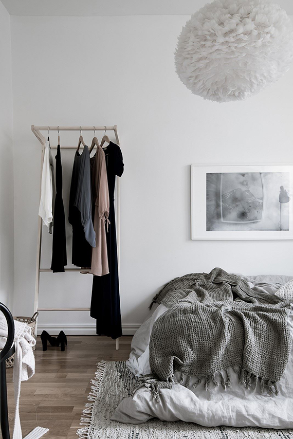 Bedroom clothes rack inspiration | Bjurfors