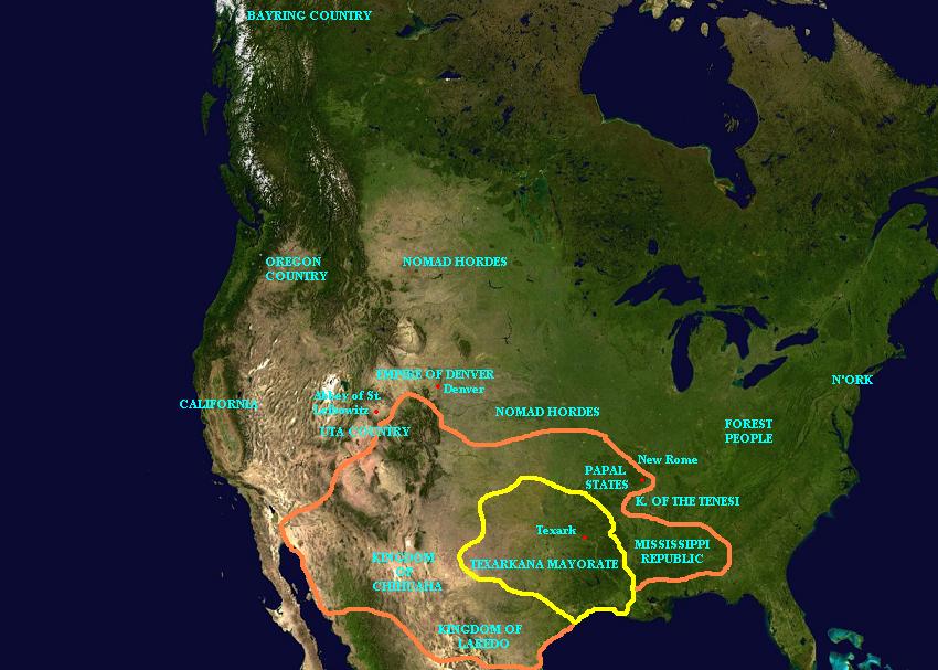 Cantico por Leibowitz mapa