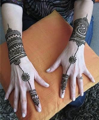 Wrist Mehndi Designs For Hands