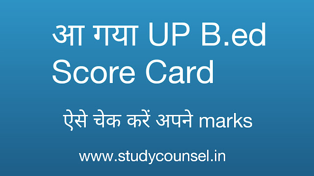 up b.ed score card
