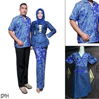Baju batik keluarga plus anak trend terbaru