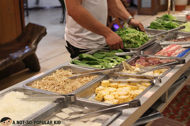 Ingredients for hotpot in Korean Manor Buffet
