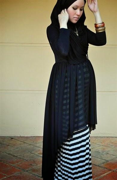 desain model baju hijab muslim yang modis dan trendy khusus untuk ...