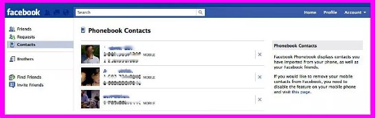 remove my phone number from facebook account