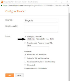 Cara Mengganti Header Blog dengan Gambar