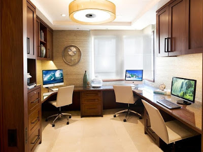 decoração escritorio pequeno simples