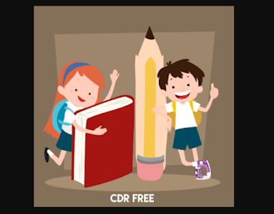 Kartun Anak Sekolah CDR