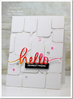 White on white single die cut shape repeated - Karolyn Loncon